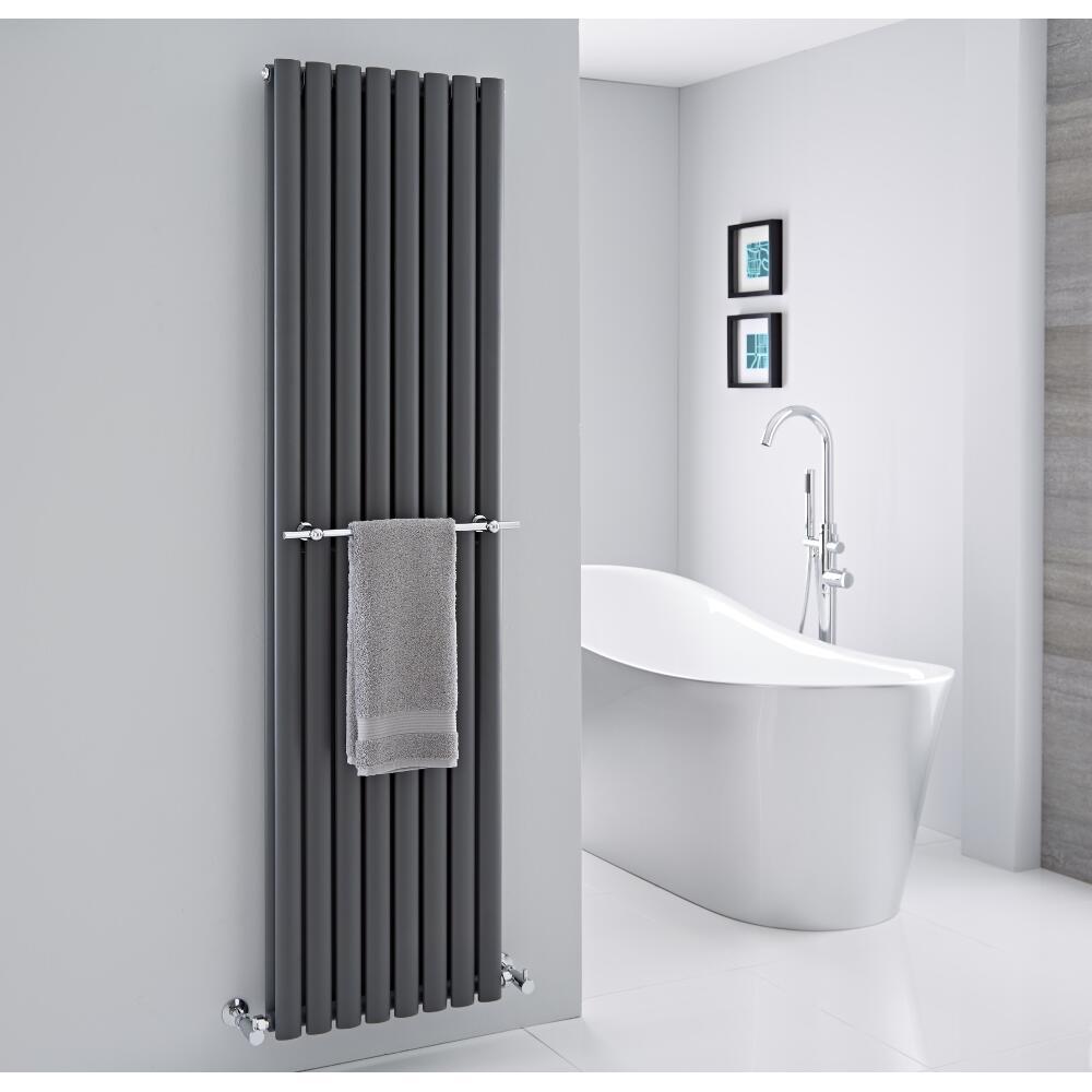 Barra Porta toallas para Radiadores Verticales Revive y Delta de 470mm