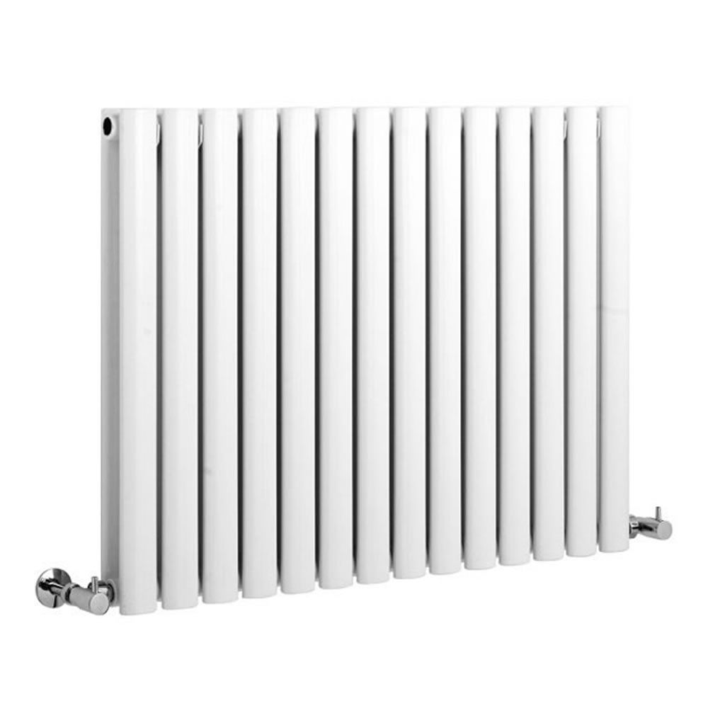 Radiador de Diseño Horizontal Doble - Acero - Revive Blanco - 1.589 Vatios - 633x826mm