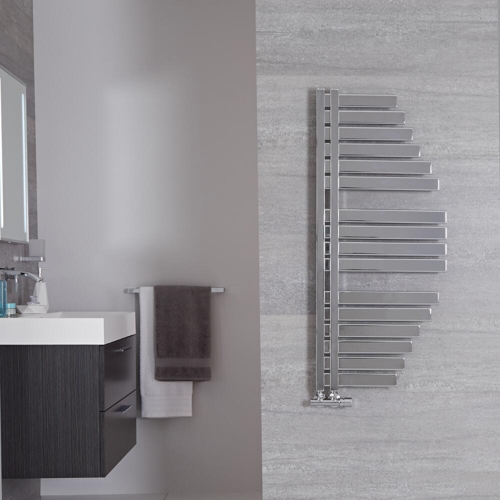 Radiador Toallero de Diseño Vertical - Cromado - 1100mm x 463mm - 333 Vatios - Lazio