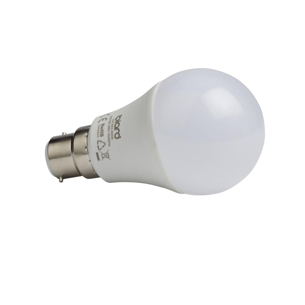 Biard Conjunto con 6 Bombillas LED B22 7W Intensidad Luminosa No Regulable