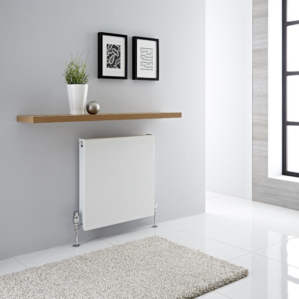 Radiador Convector Horizontal con Panel Doble Plus - Blanco - 600mm x 600mm x 72,5mm - 987 Vatios - Type 21