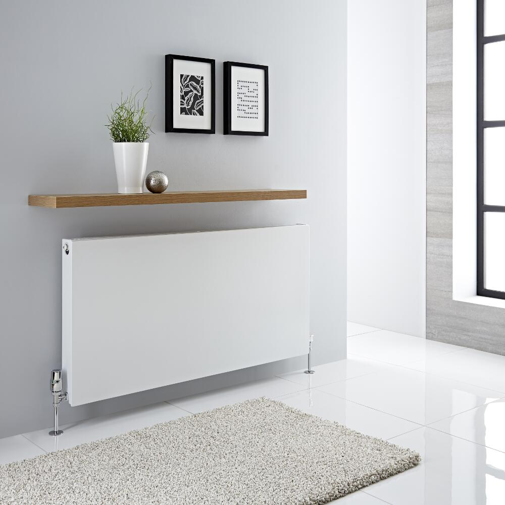Radiador Convector Horizontal con Panel Doble Plus - Blanco - 600mm x 1200mm x 72,5mm - 1975 Vatios - Type 21