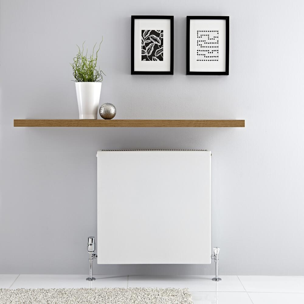 Radiador Convector Horizontal con Panel Doble - Blanco - 600mm x 600mm x 103mm - 1299 Vatios - Type 22