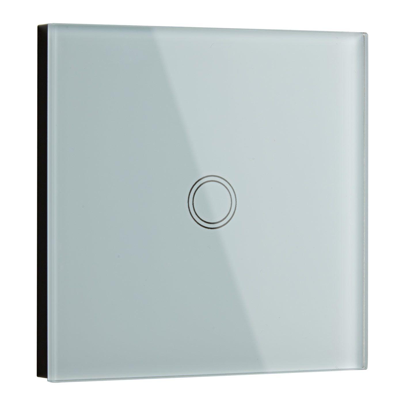Biard Interruptor de Diseño de Pared Blanco con Panel Posterior Redondo