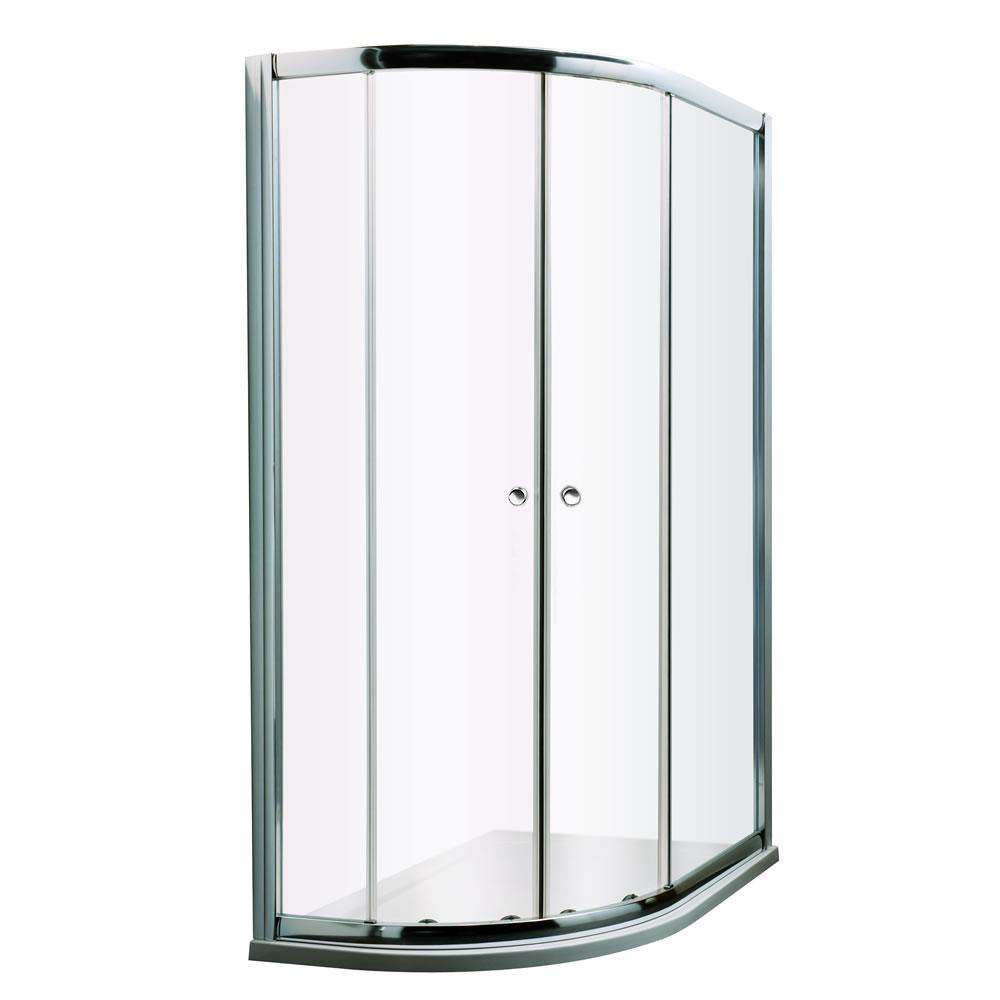 Mampara de ducha angular 1000x800x1950 con plato de ducha - Hutton