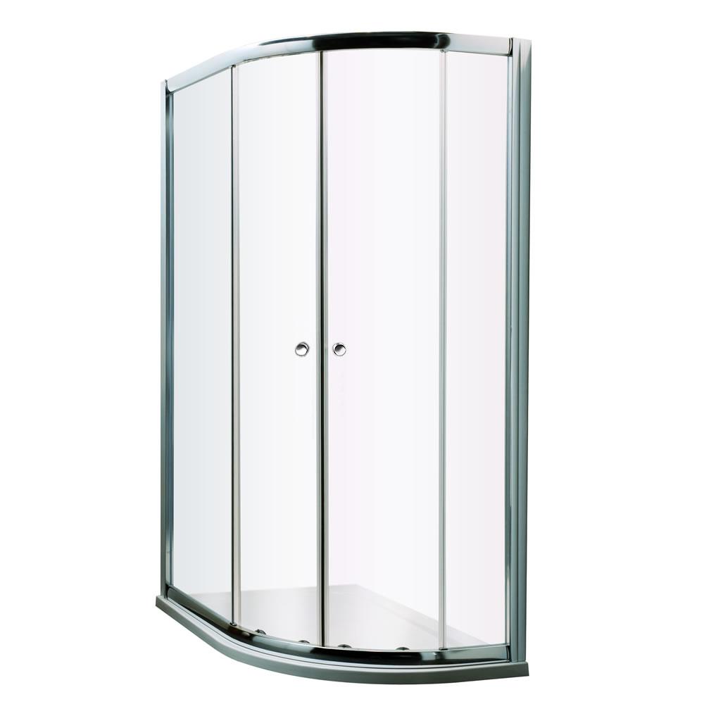 Mampara de ducha angular 1200x900x1950 entrada derecha con plato de ducha - Hutton