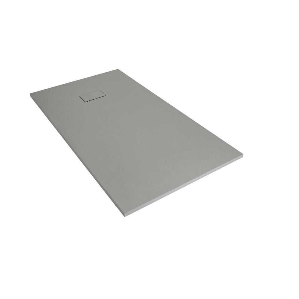 Plato de Ducha Rectangular Efecto Piedra de Color Gris Claro de 1000x800mm
