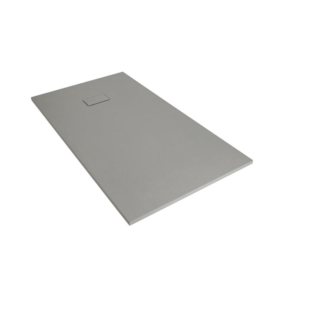 Plato de Ducha Rectangular Efecto Piedra de Color Gris Claro de 1200x900mm