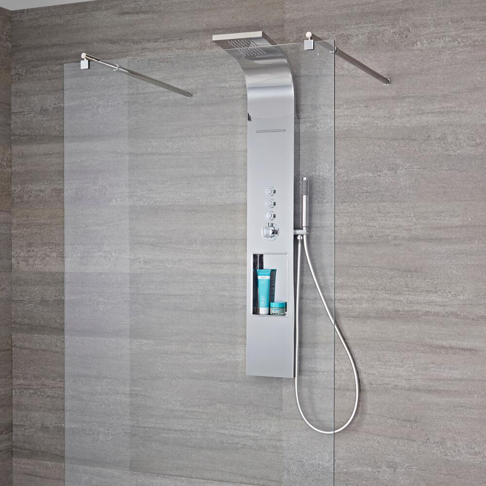 Panel de ducha termost tico de 3 funciones con erogador a for Ducha efecto lluvia