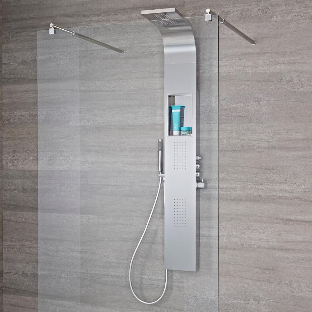 Panel de ducha termost tico de 3 funciones con alcachofa for Alcachofa de ducha efecto lluvia