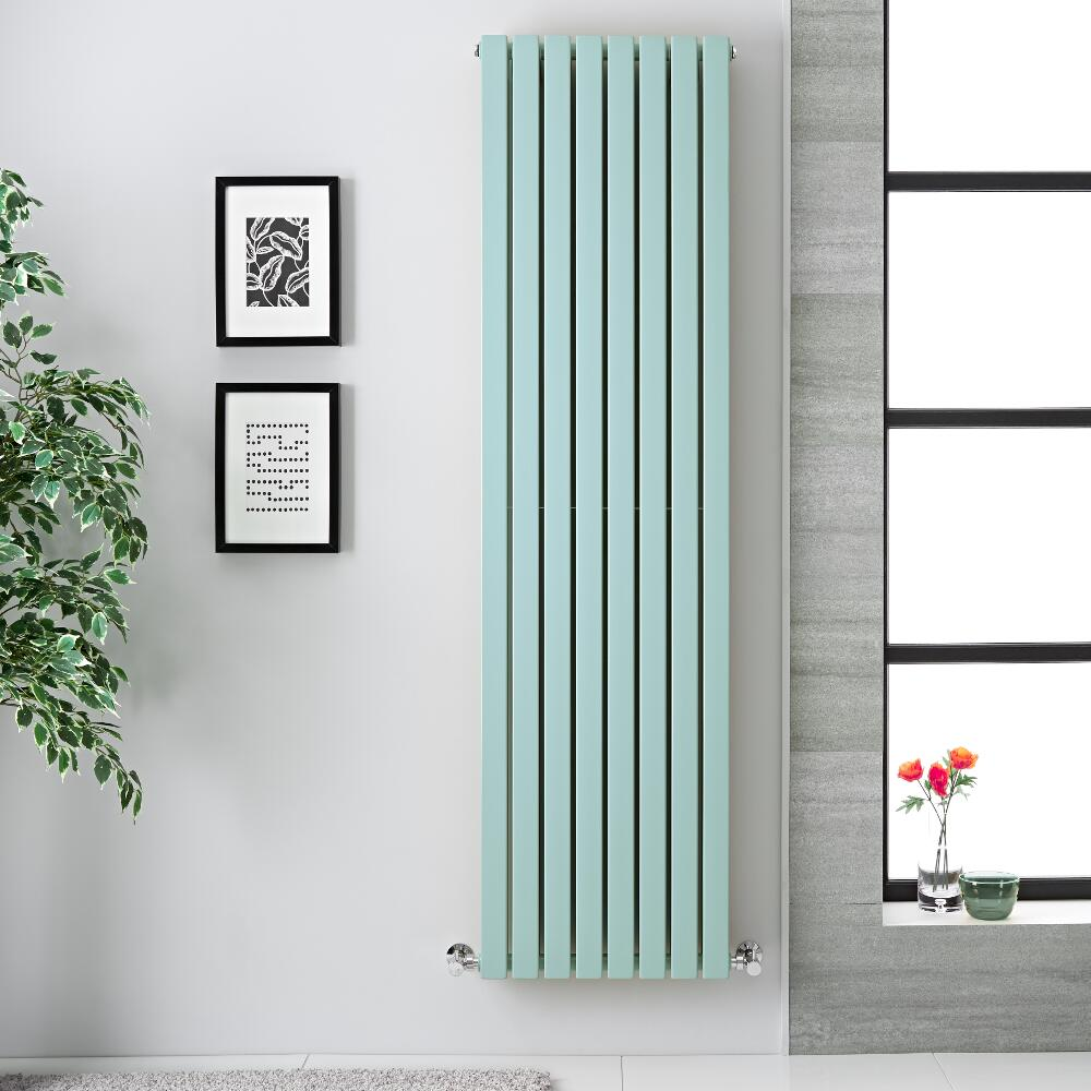 Radiador de Diseño Vertical Doble - Verde Menta Claro  - 1780m x 472mm x 72mm -  1931 Vatios Vatios - Sloane