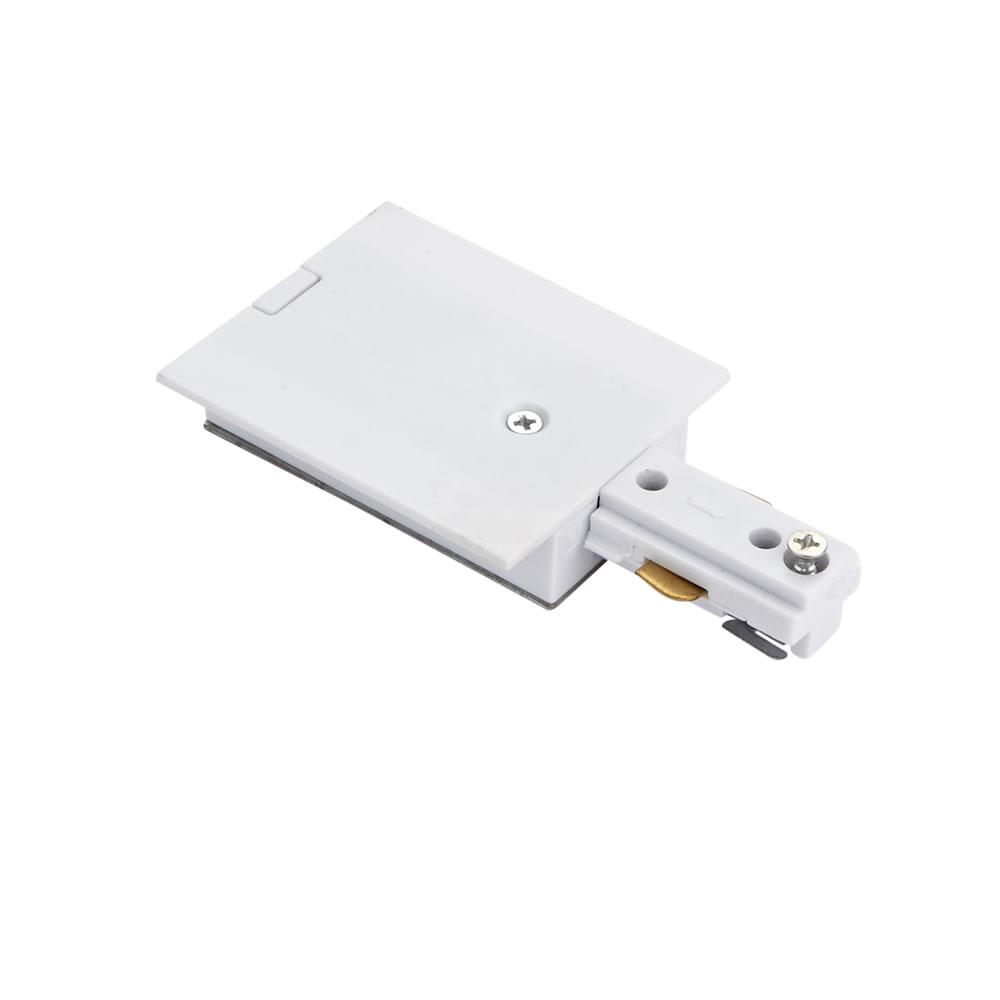 Conector de Alimentación Empotrable Para Sistemas de 1 Circuito - Blanco