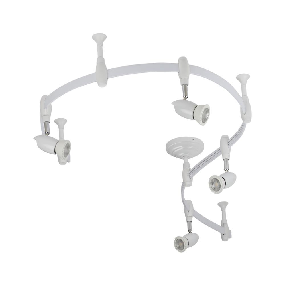 Biard Kit Completo con Rail Flexible Blanco de 2m y 4 Focos LED de Carril - Forio