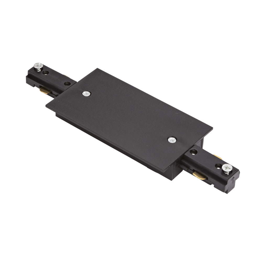 Biard Conector de Alimentación Recto Empotrable Para Sistemas de 1 Circuito - Negro
