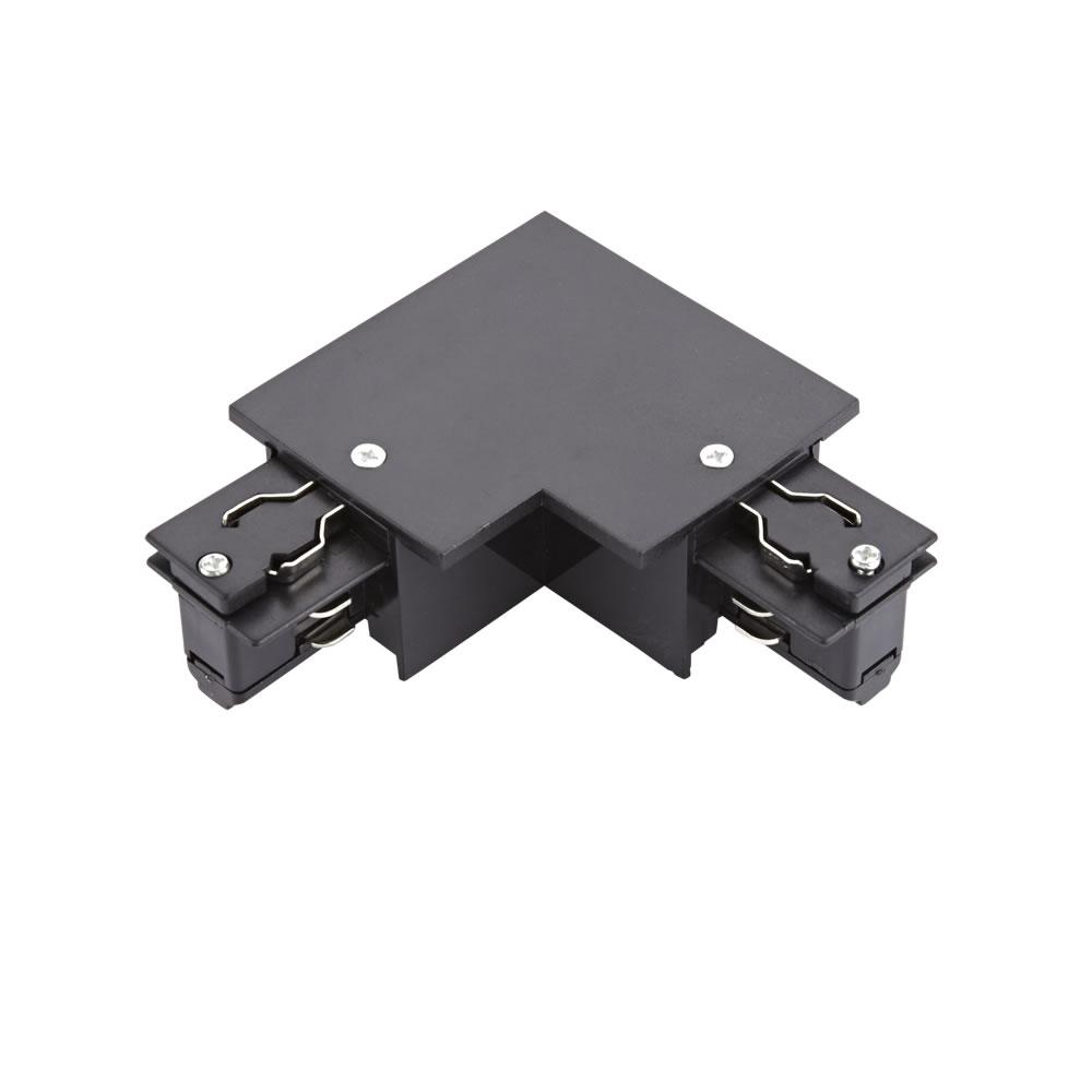 Conector de Alimentación L Empotrable Para Sistemas de 3 Circuitos - Negro