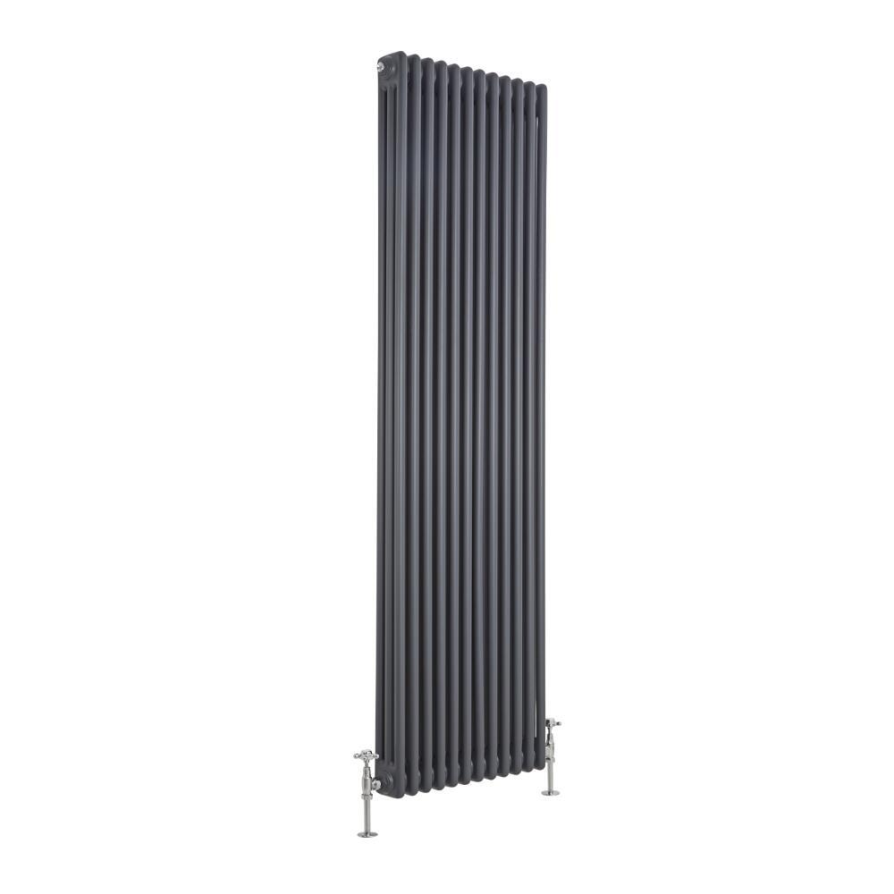 Radiador de Diseño Vertical Triple Tradicional - Antracita - 1800mm x 563mm x 100mm - 2338 Vatios - Regent