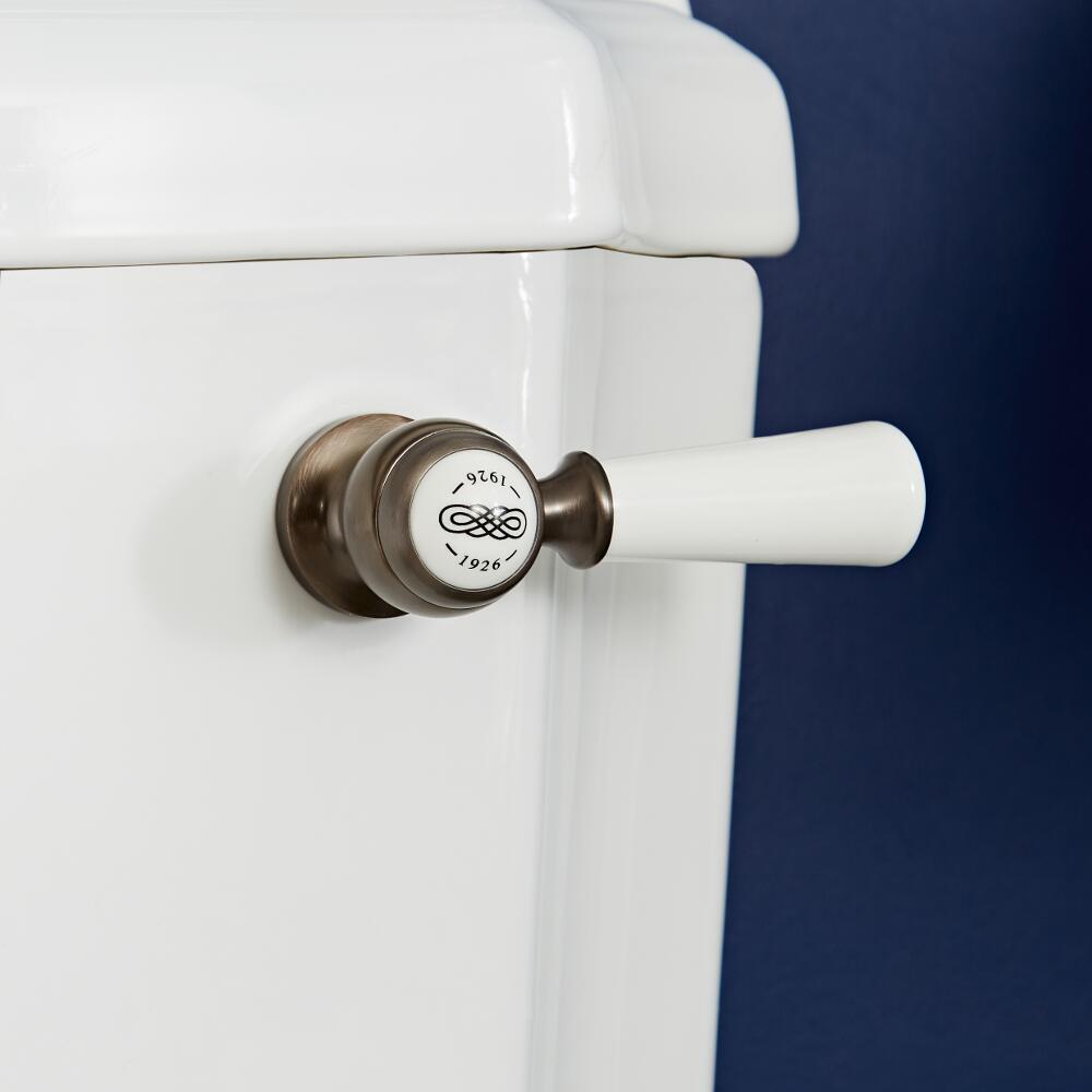 Palanca de Descarga de WC Realizada de Cerámica con Acabado Efecto Bronce Bruñido - Elizabeth