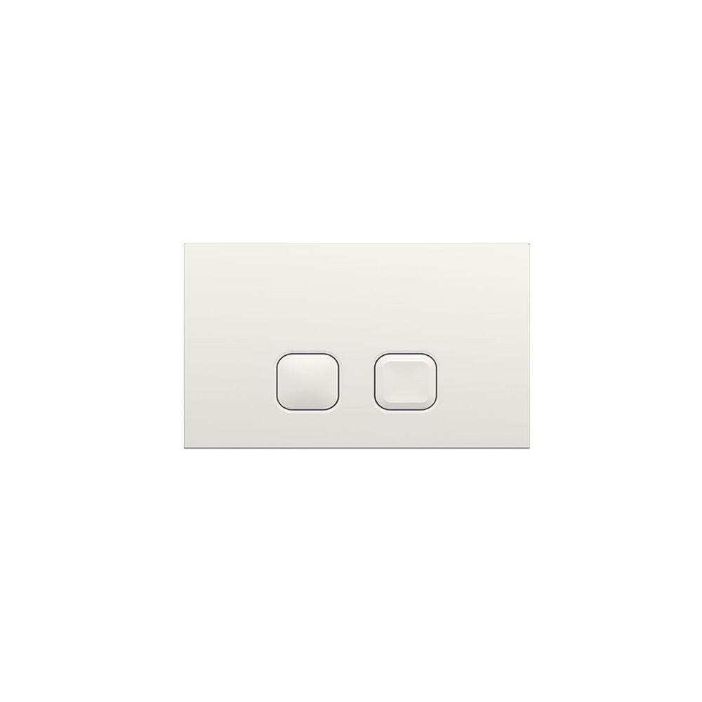 Placa de Accionamiento Color Blanco de 150x230mm para WC con Cisternas Empotrable - Cluo