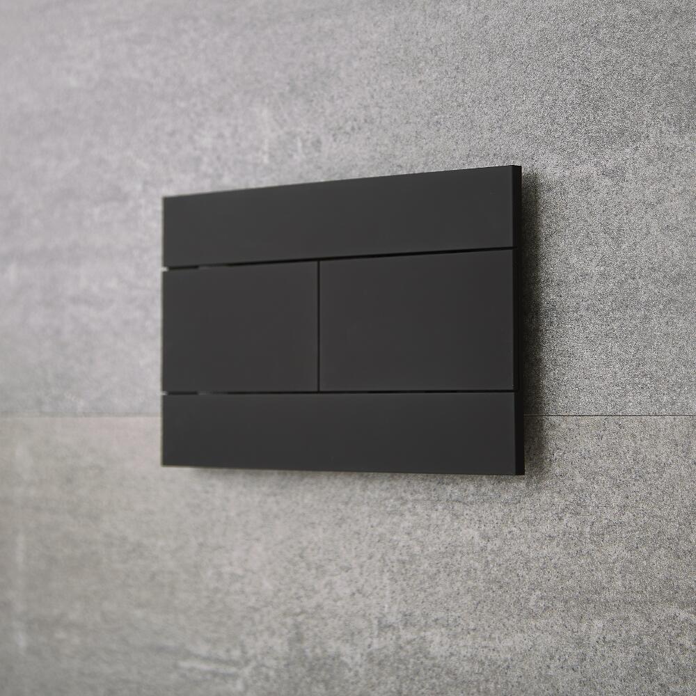 Placa de Accionamiento Color Negro para WC con Cisterna Empotrables - Nox