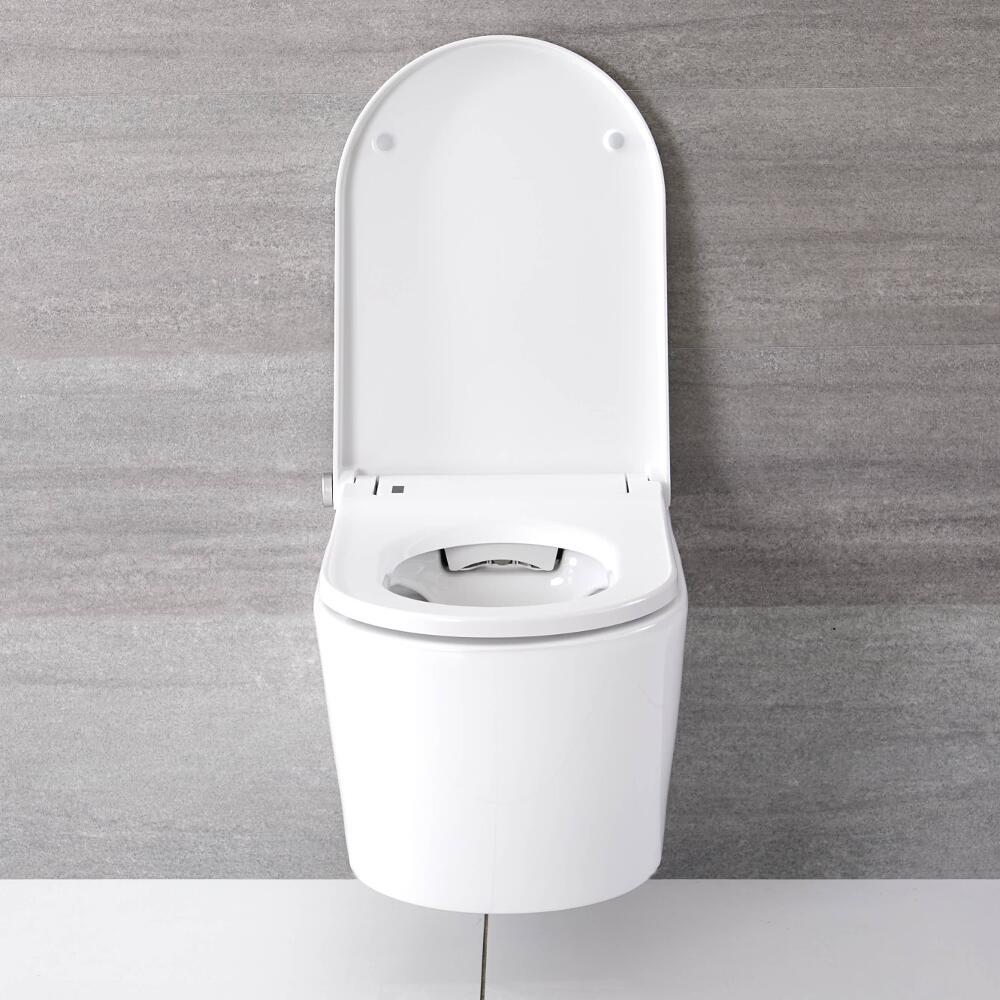 WC Japonés Mural con Función Inodoro-Bidé Inteligente - Hirayu