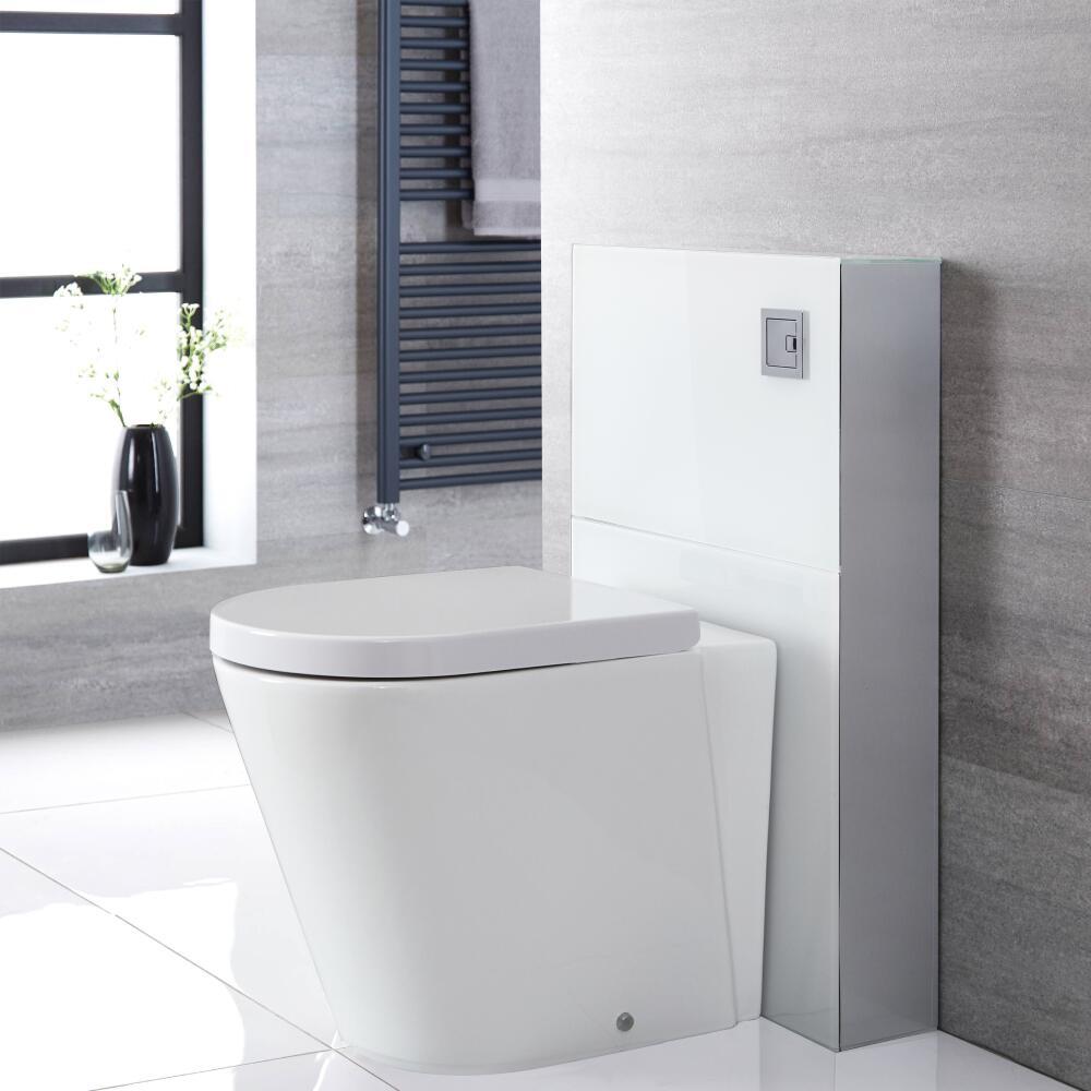 Kit para Inodoro Adosado Blanco de 500mm Completo con Inodoro WC - Saru