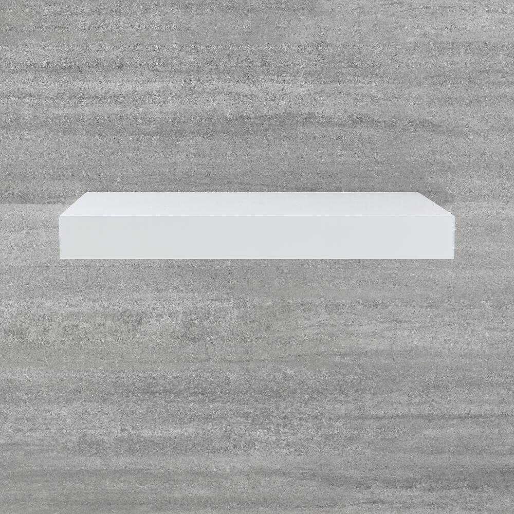 Encimera Flotante Blanca para Lavabo Sobre Encimera 600mm - Cluo