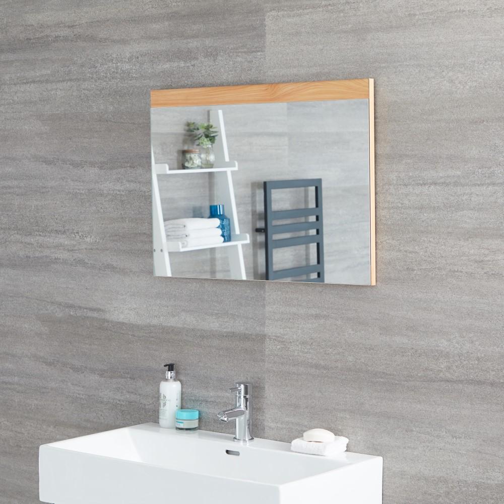 Espejo de 500x700mm para Cuarto de Baño Color Roble Dorado - Newington