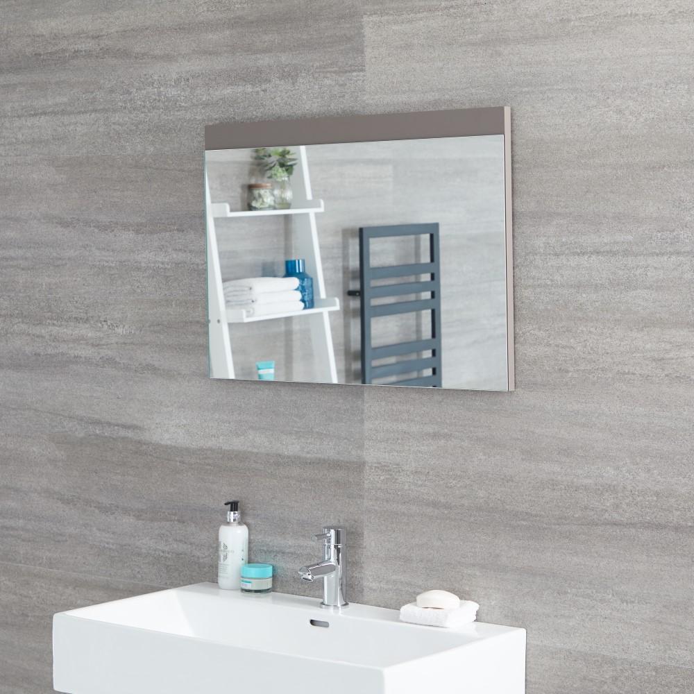 Espejo de 500x700mm para Cuarto de Baño Color Gris Opaco ...