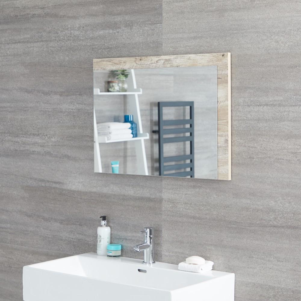 Espejo de 500x700mm para Cuarto de Baño Roble Claro - Hoxton