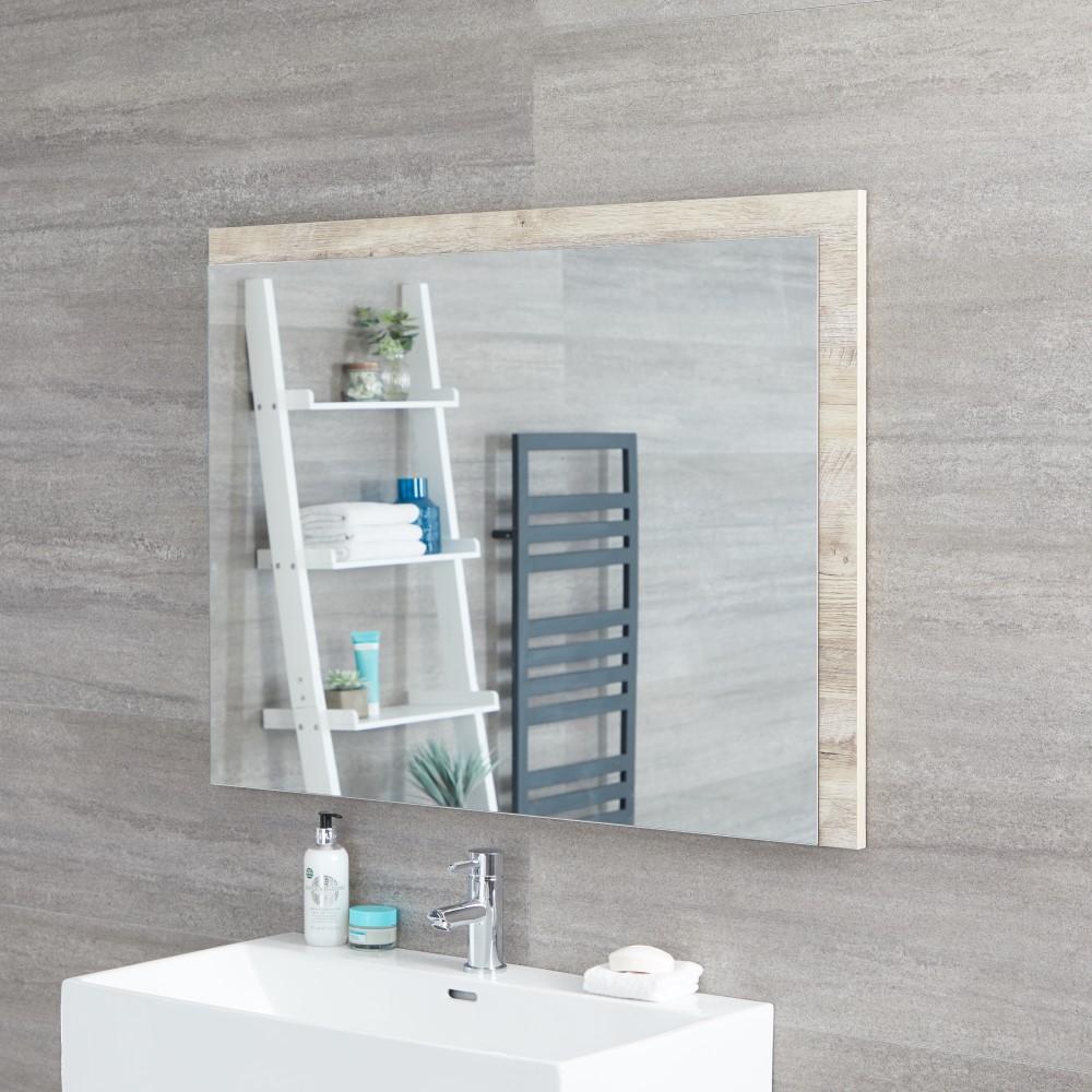 Espejo de 750x1000mm para Cuarto de Baño Roble Claro - Hoxton