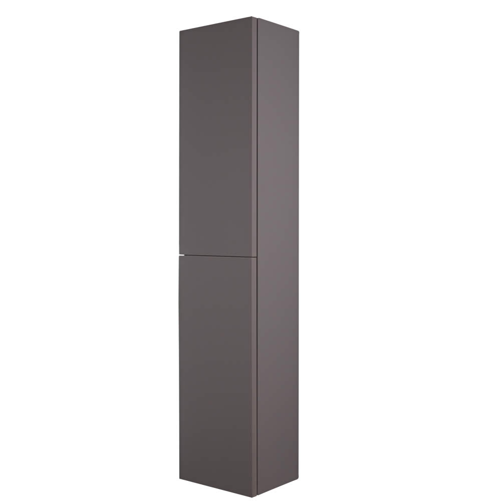 Armario de Pared de 350x1500mm para Cuarto de Baño Color Gris Opaco - Newington