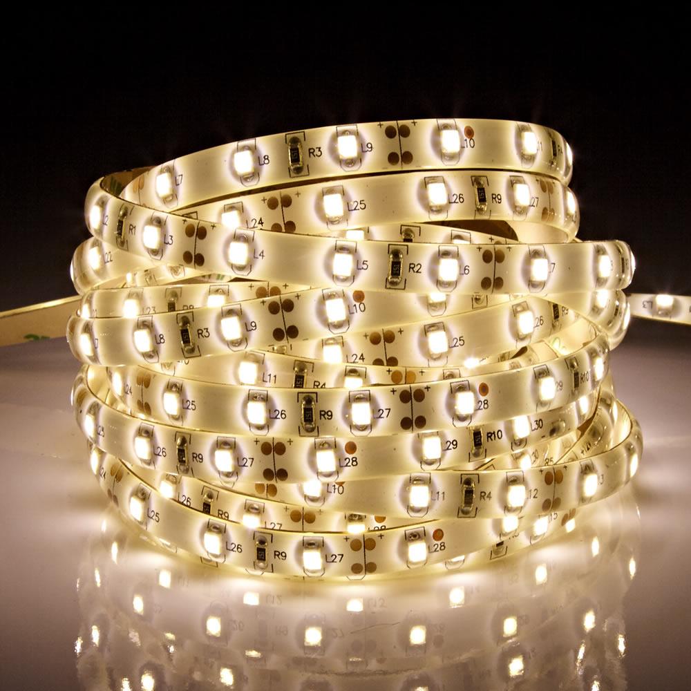 Biard Tira de Luces LED 3528 de 5 Metros Blanco Cálido Brillante Resistente al agua