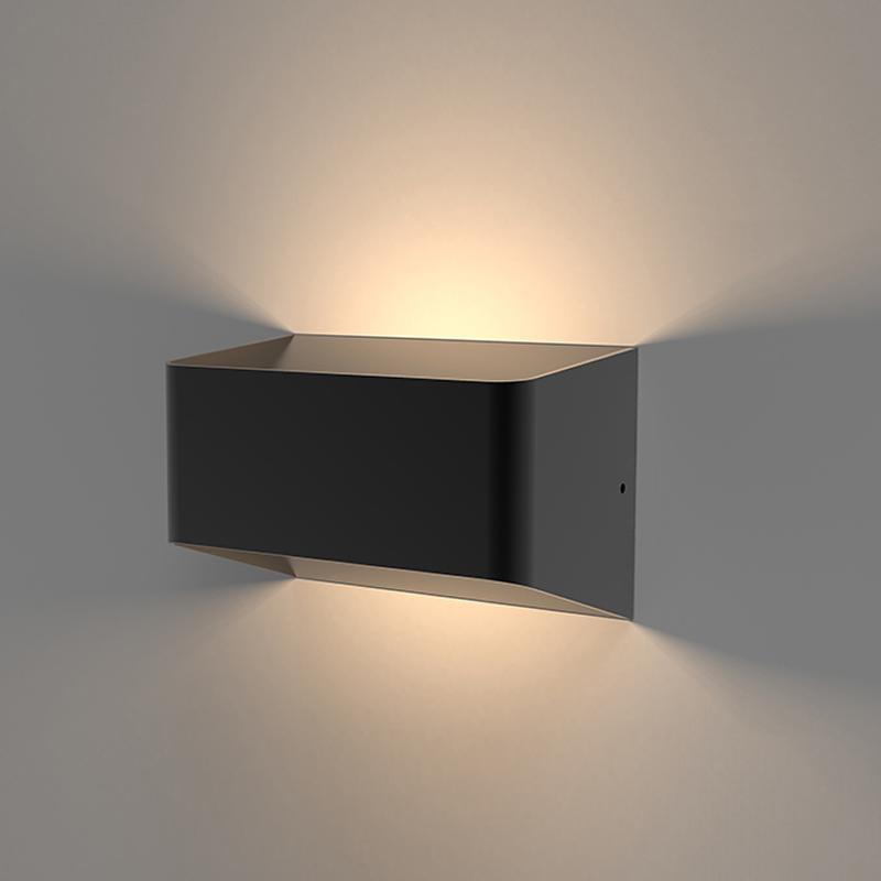 Aplique Mural Cuadrado LED Exterior 10W IP54 Negro - Orta