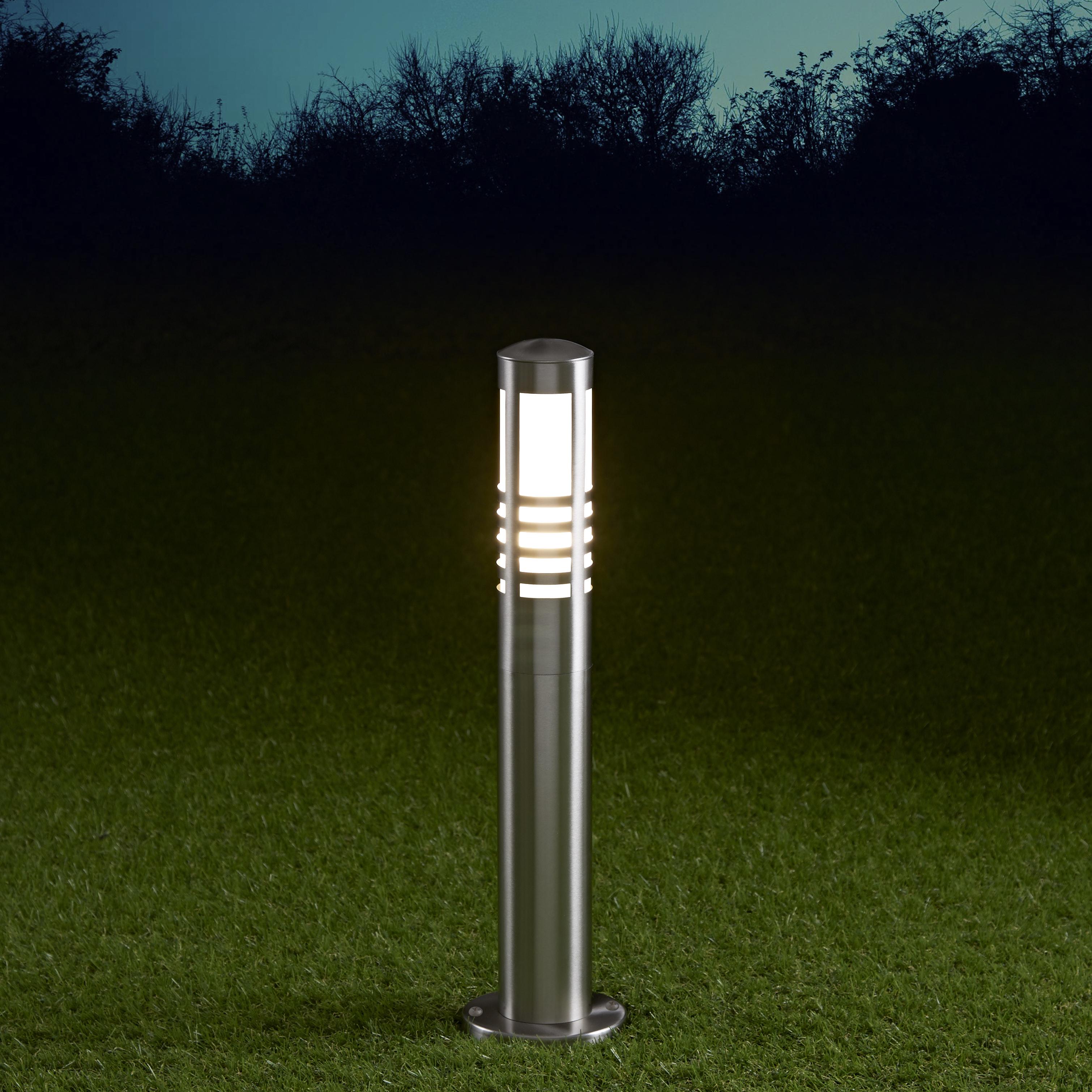 Biard Sobremuro LED 450mm para Exteriores 6W de Acero Inoxidable y Bombilla E27 - Orleans