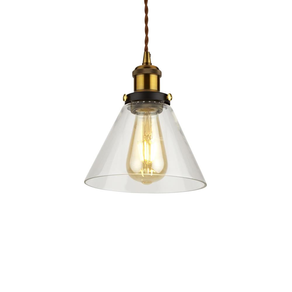 Biard Lámpara de Techo Retro de Latón y Vidrio Disponible con Diferentes Acabados - Shoreditch