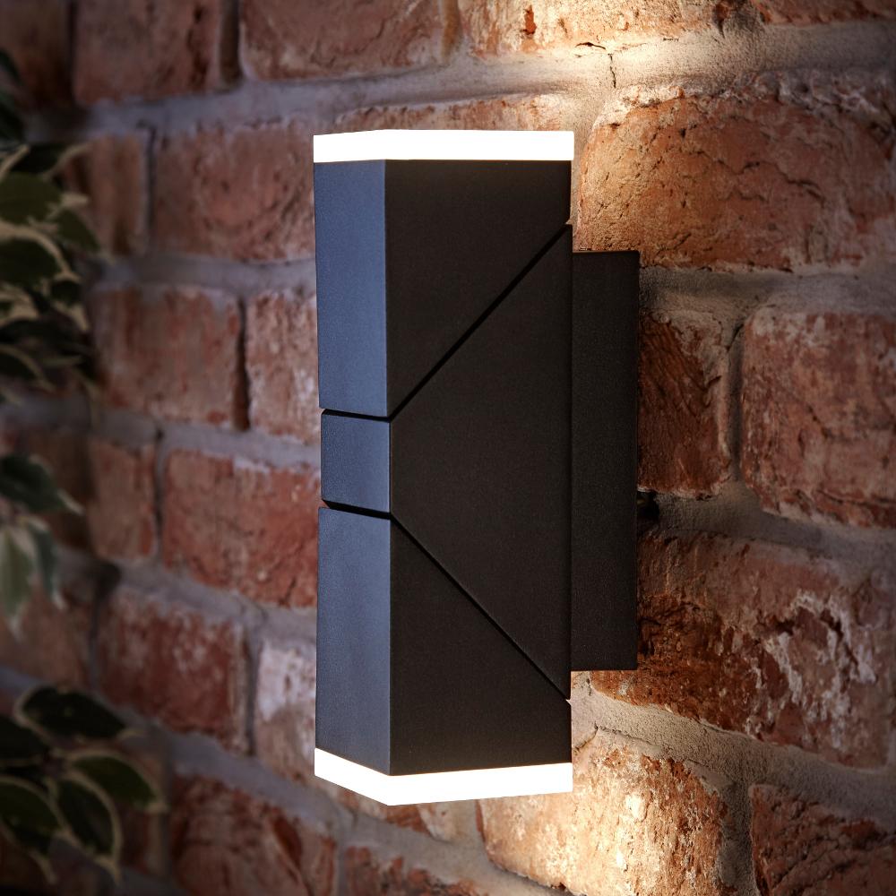 Aplique LED Orientable Cuadrado Negro con Luz Ascendente o Descendente - Ziersdorf