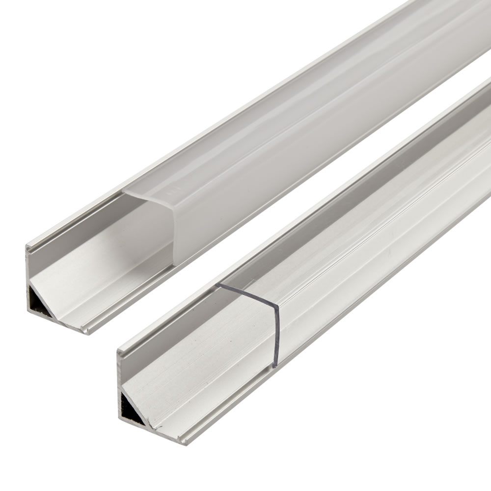 Biard Perfil de Superficie en Aluminio Blanco para Tiras LED 100cm