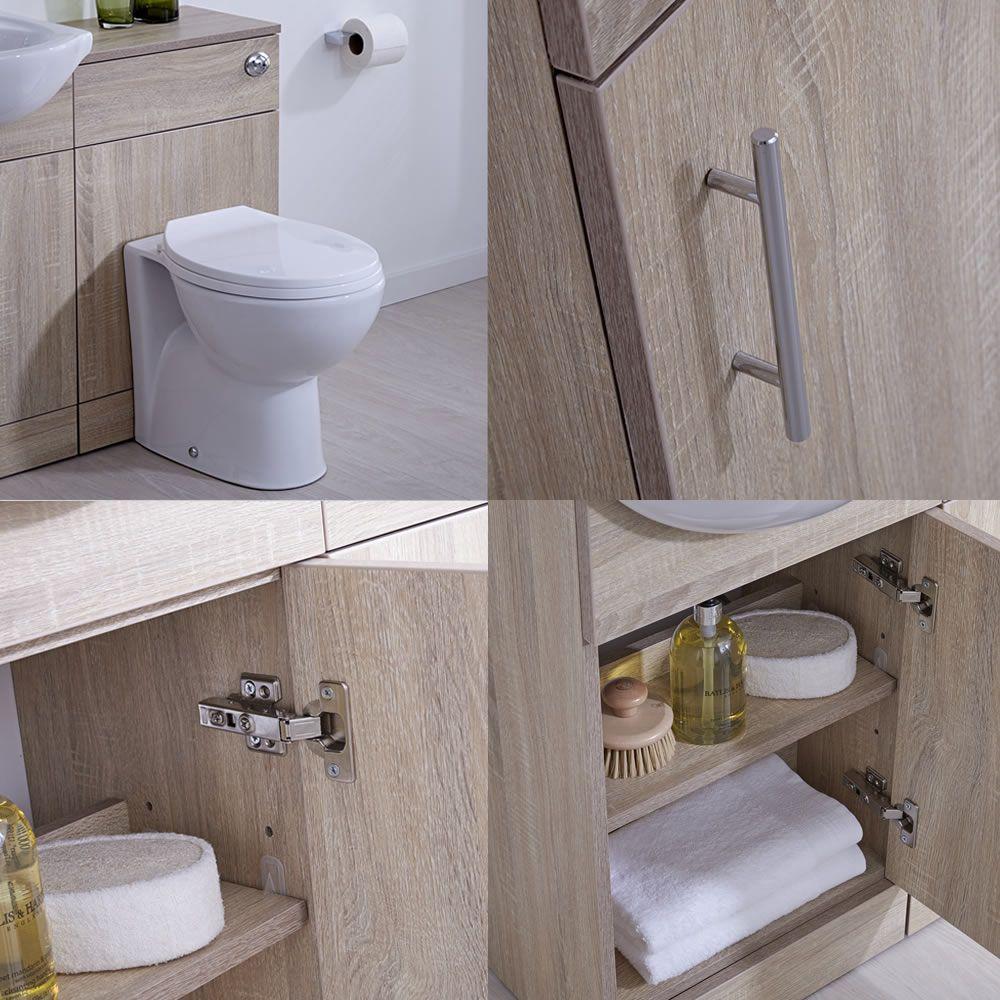 Mueble para Cuarto de Baño con Lavabo e Inodoro de Careámica ...