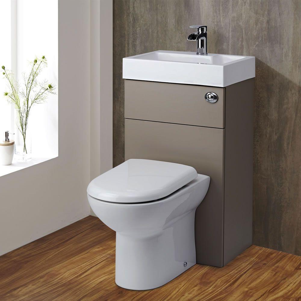 Mueble de ba o completo con wc de cer mica y lavabo for Banos 2 lavabos