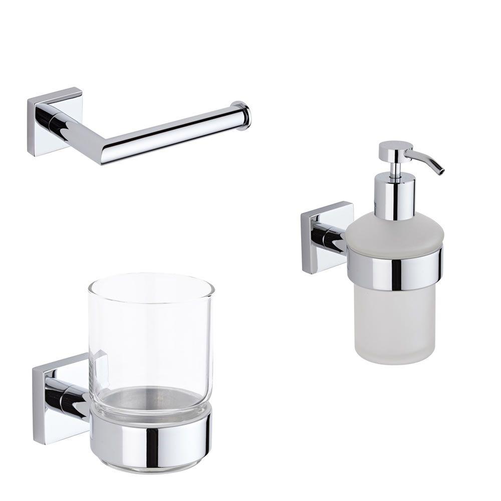 Conjunto de 3 accesorios modernos para cuarto de ba o liso - Accesorios bano modernos ...