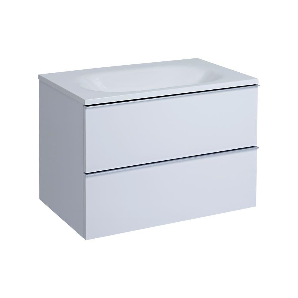 Mueble de Lavabo Suspendido con Acabado Color Blanco Lacado ...
