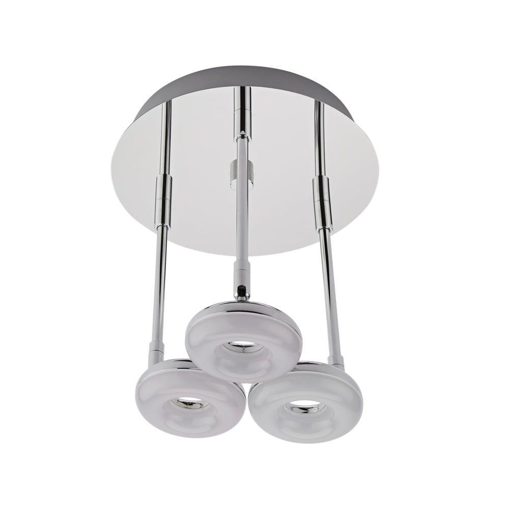Luminaria de techo con tres focos para ba o 16w ciambella for Focos bano