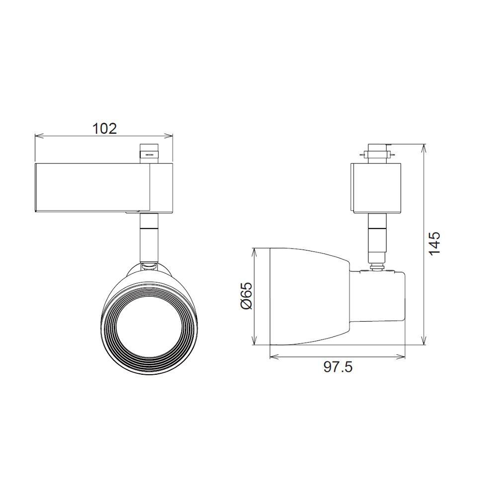 Circuito Led : Biard kit con carril led monofase de 1 circuito de 2m 2 x1m con 4