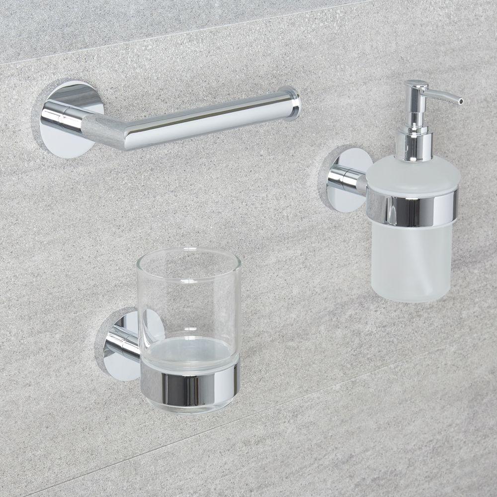 Conjunto de 3 accesorios modernos para cuarto de ba o prise - Accesorios cuarto bano ...