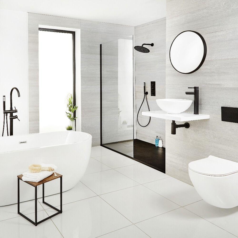 alcachofa de ducha redonda negra de 300mm acero inoxidable nox. Black Bedroom Furniture Sets. Home Design Ideas