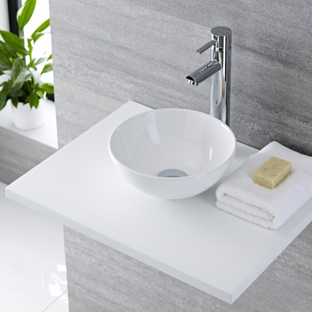 lavabo sobre encimera redondo de cer mica de 400x400mm
