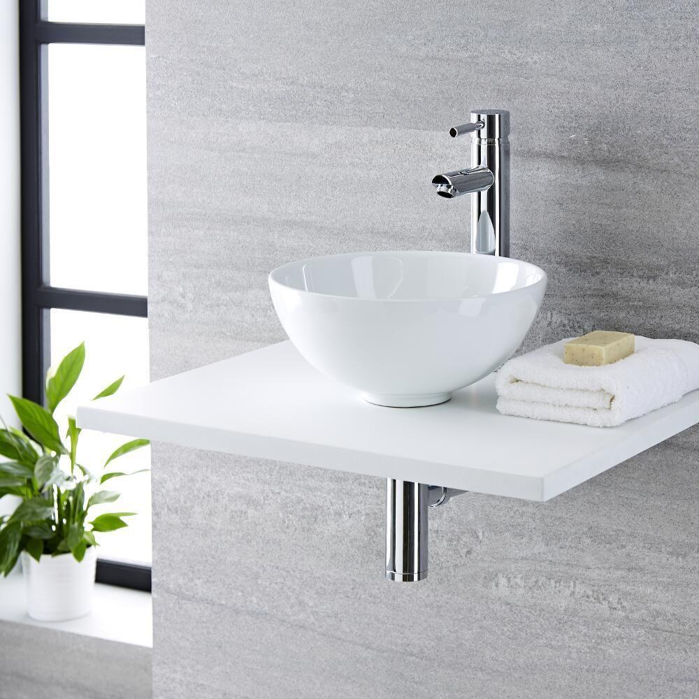 lavabo sobre encimera redondo de cer mica 320x320mm con