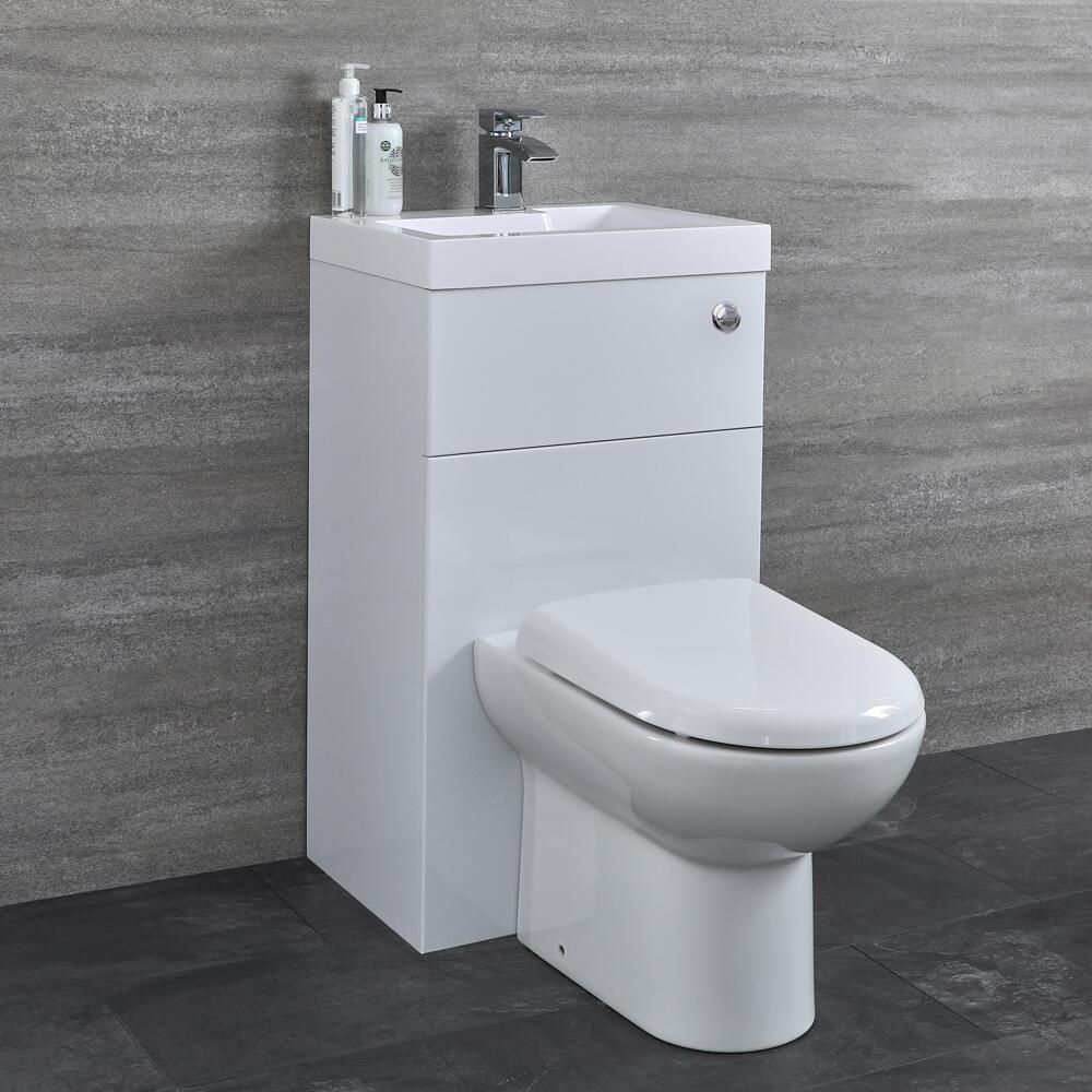 Conjunto de ba o blanco completo con inodoro de cer mica y - Inodoro y lavabo en uno ...