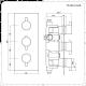 Llave de Ducha Termostática Empotrable Triple de 2 Funciones Negra con Alcachofa Redonda de 300mm y Telefonillo - Nox