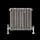 Radiador de Diseño Horizontal Triple Tradicional - Acero Dulce - Lacado Metal Rudo - 600mm x 605mm - 950 Vatios - Regent